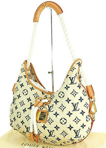 Auth LOUIS VUITTON Bulles MM Monogram Nylon Cruise Line Shoulder Bag #34713