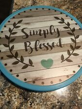 """New listing Lazy Susan """"Simply blessed�. 12�"""
