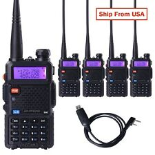 5x BaoFeng UV-5R VHF&UHF Dual-Band Walkie Talkie ham 2 way 5R radio + One Cable