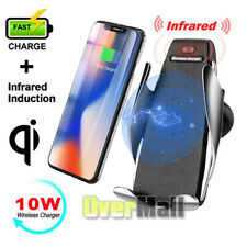 Smart Automatic Clamping Wireless Car Charger Infrared Auto-sens Air Vent Mount