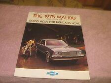 `1978 Chevrolet  Malibu  Full Color Sales Brochure