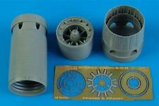 Aires 1/48 Mirage 2000C/B/D/N exhaust nozzles - opened for Eduard/Heller 4560