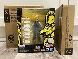 🔥 IN HAND DRAGONBALL Z S.H.FIGUARTS ANDROID 18 SDCC 2020 EVENT EXCLUSIVE COLOR