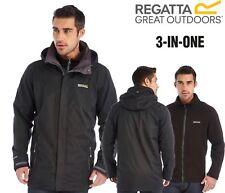 Regatta Mens Telmar 3in1 Waterproof Outdoor Hiking Walking Classic Jacket Coat
