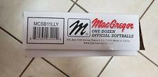 "MacGregor 11"" Little League® Approved Softball (1 Dozen Mcsb11Lly game balls New"