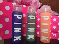 VICTORIA'S SECRET PINK COLLEGIATE GLASS WATER BOTTLES (Each Sold Separately)