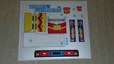 A Transformers premium quality replacement sticker/decal sheet for G1 Downshift