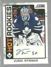 2012-13 Score Hot Rookie Autographs #524 Jussi Rynnas (ref53433)