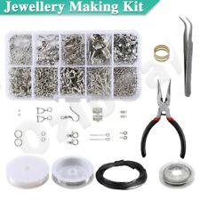 DIY Jewellery Making Kit Wire Findings Pliers Starter Tool Earring Case beads