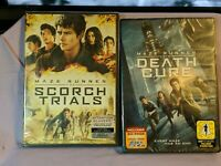 Brand New Sealed ~ Maze Runner DVD Movie Lot (DVD, Death Cure and Scorch Trials)