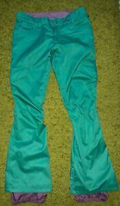 Burton White Collection Ski/Snowboard Pants Trousers Bottoms Dry Ride Green IEV