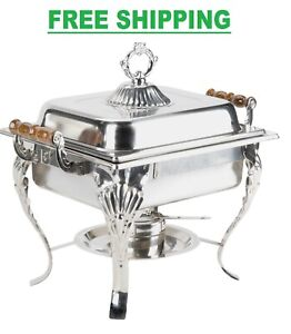 Classic Catering 4 Qt STAINLESS STEEL Chafer Chafing Dish Size Buffet Half SET