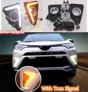 For Toyota RAV4 2016 2017 2018 Bumpr LED DRL Bezel Fog Lights Wiring / Swith Kit