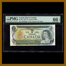 Canada 1 Dollar, 1973 P-85a BC-46a PMG 66 EPQ lawson/Bouey Queen Elizabeth II