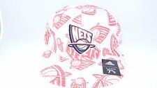 NEW HAT CAP FITTED NBA ADIDAS NEW JERSEY NETS SIZE 7 1/2 GREY RED