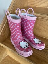 Sanrio Hello Kitty girls size 11/12  11 12 pink HK rubber rain boots wellies