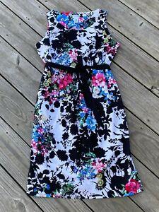 Motherhood Maternity Sleeveless Floral Dress Size M