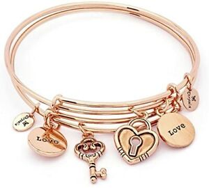 Chrysalis Love Brass Rose Gold Plated Expandable Bangle CRBT1901RG