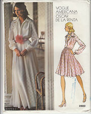 Evening Dress Oscar de la Renta 2 Lengths Vogue Sewing Pattern 2880 Sz 12