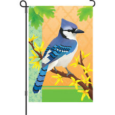 "Blue Jay in Spring (12"" x 18"" Approx ) Garden Size Flag Pr 51427"