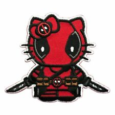 Hello Kitty with Knife Embroidered Iron on Sew on Patch 2.5 inch [HK4]