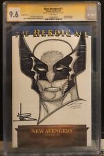 NEW AVENGERS 1 CGC 9.6 SS BLANK WITH ORIGINAL WOLVERINE SKETCH BY DEXTER VINES