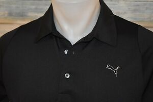 PUMA COOL CELL Medium Men's S/S Poly Spandex Golf Polo Shirt Black