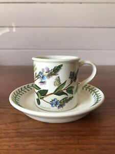 Vintage Portmerion Demitasse Cup & Saucer The Botanic Garden Veronica Chaemdrys