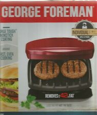 GEORGE FOREMAN GRILL AND PANINI  * RED  * GR10RM ~ SPECTRUM BRANDS