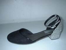 Faux Suede Formal Shoes for Girls Buckle