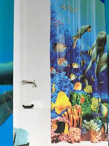 Mainstays Chloride Free PEVA Shower Curtain - Dolphin