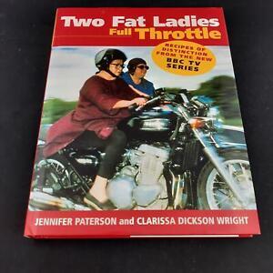 Two Fat Ladies Full Throttle Hardback Book Cookbook Recipes 1998 1st Ed
