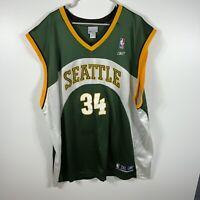 Reebok NBA Seattle basketball jersey #34 Allen mens size 3XL Vintage w/ wear