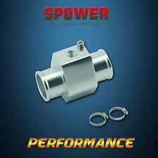 Universal Silver 28MM-30MM Water Temp Gauge Joint Pipe Radiator Sensor Adapter