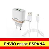 Cargador Pared LDNIO Doble 2 Puertos USB 2.4A  + Cable MICRO USB Europeo a2676
