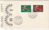 Iceland 1961 Europa Birds Reykjavik Double Cancel FDC 2x Stamps Cover Ref  25641