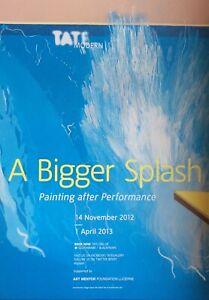 "David Hockney Original Exhibition Poster""A Bigger Splash"" Tate Modern 2012/13"