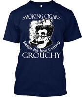 In style Smoking Cigars Grouchy - Keeps Me From Hanes Tagless Tee T-Shirt