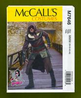 Mens Medieval Hooded Costume Sewing Pattern~Yaya Han (Sizes 38-44) McCalls 7646