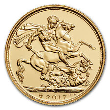 2017 0.2354 oz British Sovereign Gold Coin Brilliant Uncirculated BU
