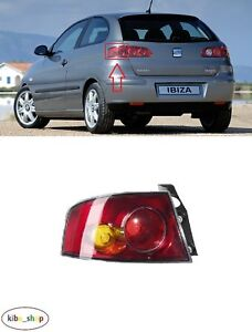 SEAT IBIZA 6L 2002 - 2009 NEW REAR OUTER TAIL LIGHT LAMP LEFT N/S PASSENGER