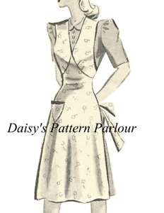 Vintage Sewing Pattern 1950s Apron Pinnie Pinny Plus Any Size 1940 1950 40s