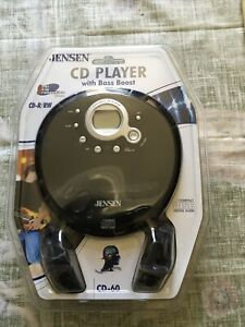 Jensen CD-60 Portable Compact CD Player With Bass Boost Anti Skip Protection