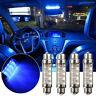 4x 42mm Blue C5W 239 Car LED 8 SMD Interior Festoon Bulb Dome Map Read Light