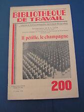 BT 200 1952 il petille le Champagne - POMMERY REIMS AY