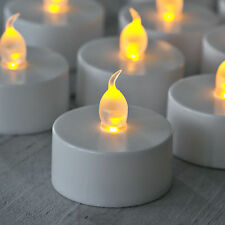 2X NEW FLAMELESS FLICKERING LED TEA LIGHT CANDLES BATTERY OPERATED  TEALIGHTS