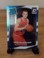 2017-18 Panini Donruss Optic Lauri Markkanen Rated Rookie Base Rc Bulls NM-MN