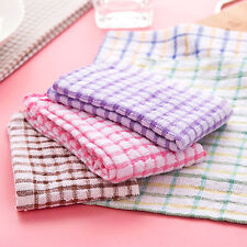 5pcs/set 24x24cm Cotton Kitchen Towels Dish Cloth Absorbent Cleaning Wiping Rags