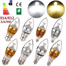 Bombilla E27 E14 E12 B22 Dimmable LED 3W 6W 9W Velas Spot Light luz Lámpara 220V
