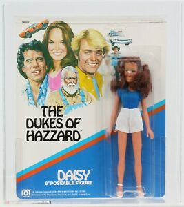 "Dukes of Hazzard 1981 Vintage Mego 8"" Daisy Duke Blue Shirt MOC AFA 85"